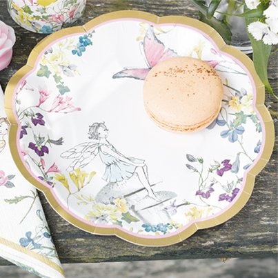 Truly Fairy Scallop Edged Plates - 18cm