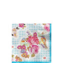 Vintage Tea Party Napkins - 21cm