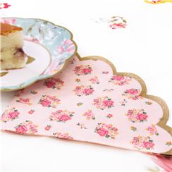 Truly Scrumptious Vintage Scalloped Edge Paper Napkins -33cm