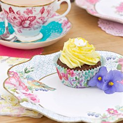 Truly Scrumptious Vintage Tea Party Plates - 21cm