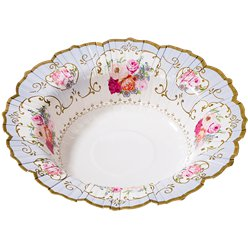 Vintage Tea Party Paper Bowls - 19cm