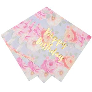 Truly Scrumptious Vintage Happy Birthday Paper Napkins - 33cm