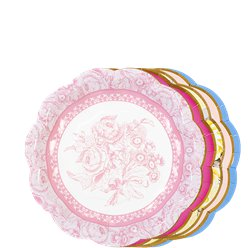 Vintage Tea Party Plates - 18cm