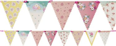 Truly Scrumptious Vintage Floral Paper Bunting - 4m