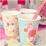 Truly Scrumptious Vintage Paper Cups - 250ml