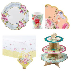 Vintage Tea Party Pack - Deluxe Pack for 12