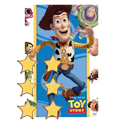 Toy Story Pin the Sheriff Badge Party Game
