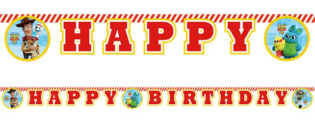Toy Story 4 Birthday Letter Banner