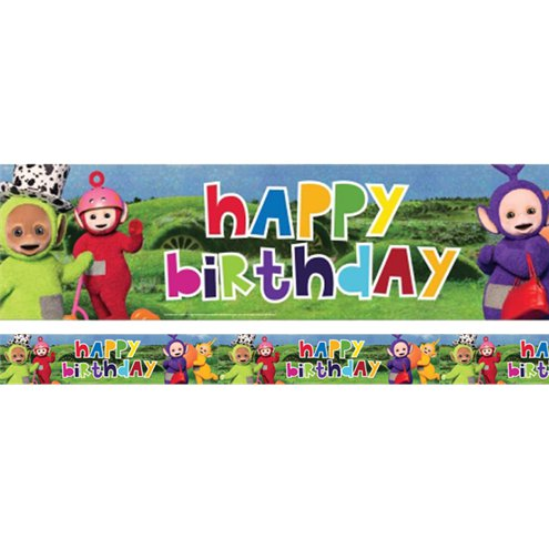 Teletubbies Holographic Happy Birthday Banner 27m Party Delights