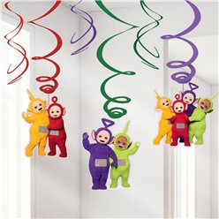 Teletubbies Hanging Swirl Decorations - 61cm
