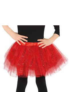 Red Glitter Tutu - Child One Size
