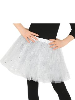 Glitter Tutu White - Child Costume