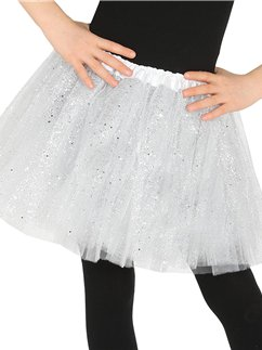 White Glitter Tutu - Child One Size