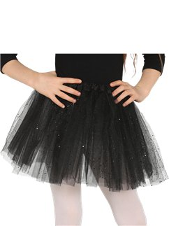 Child Glitter Tutu Black - One Size