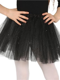 Black Glitter Tutu - Child One Size