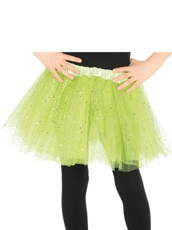 Child Glitter Tutu Green - One Size