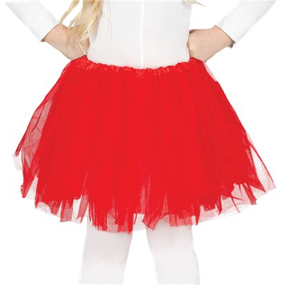 Child Red Tutu - Girl's Tutu Skirt Fancy Dress Ballet Tutu - Kids One Size front