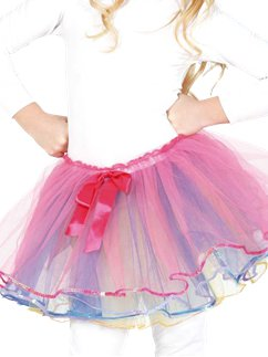 Child Pink Bow Tutu - Child Costume