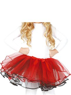 Child Red Bow Tutu - One Size