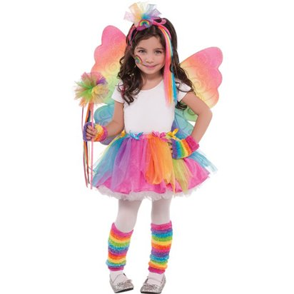 Rainbow Fairy Tutu Skirt - Girl's Tutu Fancy Dress Costume - Kids One Size  left