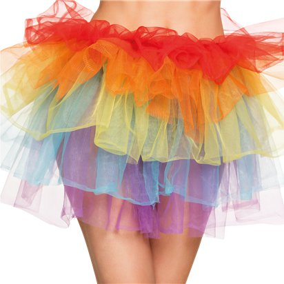 Rainbow Petticoat - Women's Fancy Dress Accessories - Adult One Size front