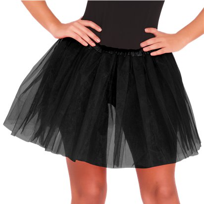Black Tutu - Womens Fancy Dress Costume Accessories - Adult One Size front