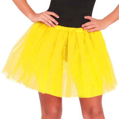 Yellow Tutu  - Womens Fancy Dress Costume Accessories - Adult One Size front