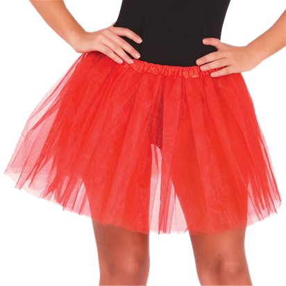 Red Tutu - Womens Halloween Fancy Dress Costume Accessories - Adult One Size front