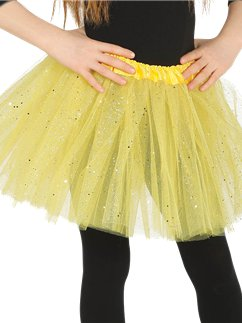 Yellow Glitter Tutu - Child One Size