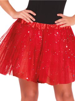 Red Glitter Tutu - Adult One Size