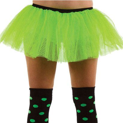 Green Tutu - Womens 80's Fancy Dress Costume - Adult UK 10-14 front