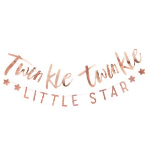 Twinkle Twinkle Rose Gold Banner - 1.5m