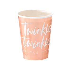Twinkle Twinkle Rose Gold Paper Cups - 266ml