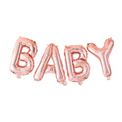Twinkle Twinkle Baby Rose Gold Balloon Bunting
