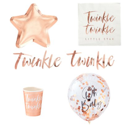 Twinkle Twinkle Party Pack - Deluxe Pack For 8