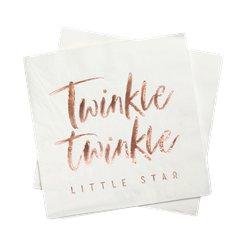 Twinkle Twinkle Rose Gold Paper Napkins - 33cm