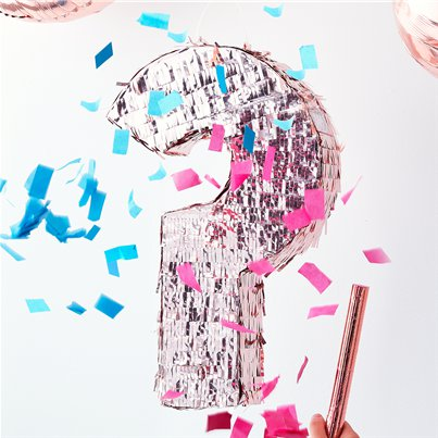 Twinkle Twinkle Rose Gold Gender Reveal Pinata - 45cm