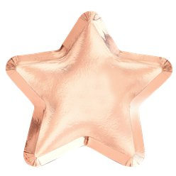 Twinkle Twinkle Rose Gold Star Paper Plate - 23cm
