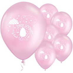 "Umbrellaphants Pink Balloons - 12"" Latex"