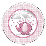 "Umbrellaphants Pink Balloon - 18"" Foil"