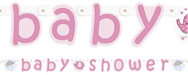 Umbrellaphants Pink Party Letter Banner - 2.2m