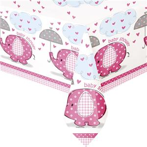 Umbrellaphants Pink Party Plastic Tablecover