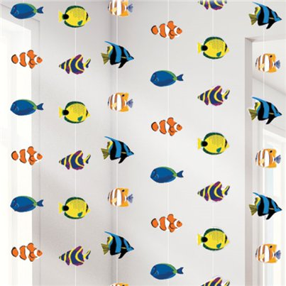 Tropical Fish Hanging Strings Decoration - 2.1m
