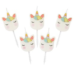 We Heart Unicorn Shaped Candles
