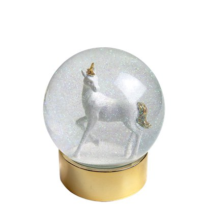 We Heart Unicorn Snow Globe - 13cm