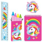 Rainbow Unicorn Stationery Favor Set
