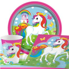 Rainbow Unicorn Party Pack - Value Pack For 8