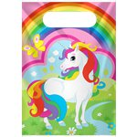 Rainbow Unicorn Plastic Party Bags