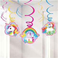 Rainbow Unicorn Hanging Swirl - 60cm