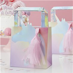 Unicorn Wishes Iridescent Unicorn Tassel Party Bags - 26cm